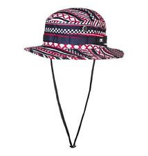 New  DC Shoes Red White Blue Cinch Fly Vented Bucket Hat L/XL Sick Lid!  MSP $35