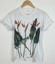 FLOWER CAT NATURE BRIGHT BOLD VINTAGE 90s RETRO URBAN FESTIVAL T SHIRT TOP UK S