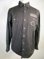 VTG Harley-Davidson 100% Cotton Motorcycle Button-Front Shirt M 11282