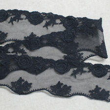 1y Broderie Anglaise Embroidery Tulle eyelet lace trim 6cm YH1298 laceking2013