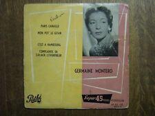 GERMAINE MONTERO EP FRANCE PARAIS CANAILLE (LEO FERRE)