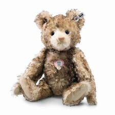 "STEIFF ""TEDDY BEAR PETSY REPLICA 1928-BROWN TIPPED MOHAIR-GLASS EYES 13.8"" 2016"