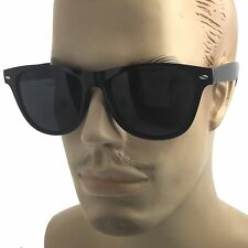 MENS XL Wide Frame Limo Tint Sunglasses Super Dark Lens Gangster Big Wayfarer