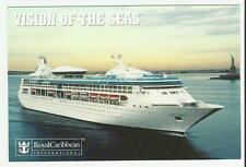ms Vision of the Seas.cruise shipRCI.(1 ) Post Card W/Ships Official Round Stamp