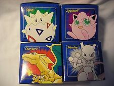 BURGER KING POKEMON Lot of 4  GOLD PLATED 23K CARDS IN ORIGINAL BOXES/HOLDERS