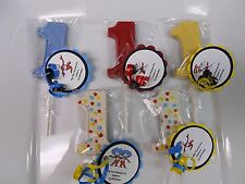 36 Dr Seuss Cat and the Hat Thing 1 1st Birthday Party Favors with custom tags