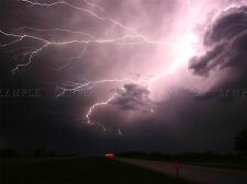 MODERN PHOTOGRAPHY NATURE WEATHER LIGHTNING ELECTRIC STORM STRIKE POSTER BB4722A