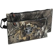 Klein Tools 55560 Canvas Realtree® Camouflage Zipper Bags, 2-Pack