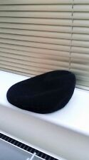 KANGOL LADIES PURE NEW WOOL BLACK BERET STYLE CAP HAT SIZE M