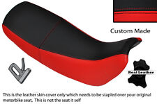 RED & BLACK CUSTOM FITS HONDA NX 650 DOMINATOR 92-01 DUAL LEATHER SEAT COVER