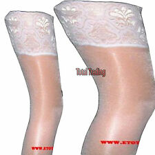 Luxury White lace top hold up ups stockings   weddings