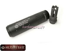 SCAR Flash Hider w/ 145mm Quick Detach Barrel Extension 14mm CCW for Airsoft