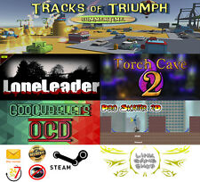 Torch Cave2+Tracks of Triumph+GooCubelets+Lone Leader+Pro Skater 2D PC STEAM KEY