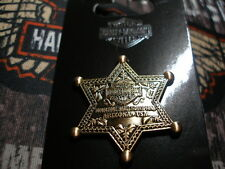 HARLEY DAVIDSON 3D DIE CAST ANTIQUE BRASS SHERRIFF'S BADGE  TOMBSTONE, AZ