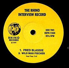 1979 GEFILTE JOE FRED BLASSIE WILD MAN FISCHER INTERVIEWS RHINO DR DEMENTO ZAPPA