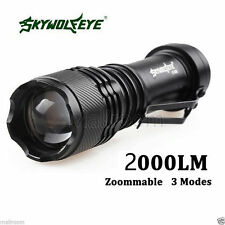 2000LM CREE Q5 AA/14500 3Modes ZOOM LED Taschenlampe Torch Sky Wolf Eye  Hot