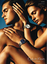 PUBLICITE ADVERTISING 114  2014  CALVIN KLEIN    collection montres