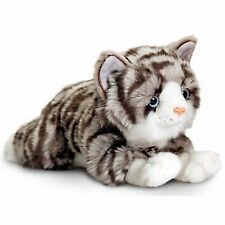 Keel Toys Jade The Grey Tabby Cat 30cm - Plush Cat Soft Toy Stuffed Animal - New