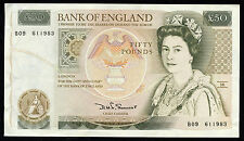 England Great Britain 50 Pound Series D Sommerset Bank of England Note