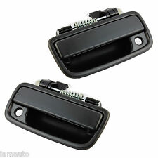 PAIR (Left/Right) Black Tacoma 95-04 Front Outside Outer Exterior Door Handle