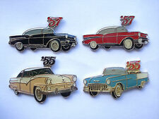 CLASSIC VINTAGE CARS USA MUSCLE MOTOR CAR SET 1950s OLD PIN BADGE JOB LOT BUNDLE