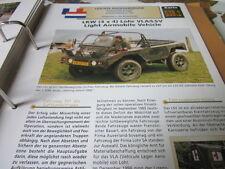 Archiv Militärfahrzeuge Leichte Rad Kfz Niederlande 38.1 Lohr VLA/LSV Airmobile