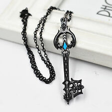 Cosplay Anime Kingdom Hearts Oathkeeper Keyblade Black Necklace Pendant Charm