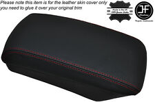 RED STITCHING ARMREST LID LEATHER SKIN COVER FITS KIA CEED 2006-2012