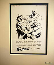 Original Vintage Advert mounted ready to frame Biscuits Weston's 1950's