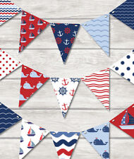 NAUTICAL BUNTING - CHILDRENS PLAY ROOM /KITCHEN BATHROOM CELEBRATION 18 FLAGS!!
