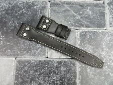NEW 22mm IWC BLACK CALF Leather Strap watch Band with Rivet BIG PILOT Beige