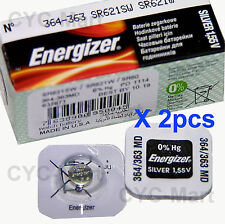 Energizer 364 SR621SW Silver Oxide Battery x 2 pcs, Made in USA FREE POST WW