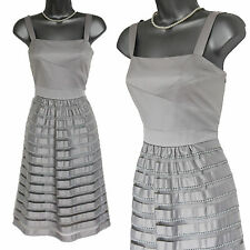 MONSOON Grey LILY Style Embellished Party Cocktail Wedding Dress UK 12 £169