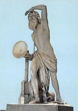 BG17664 statua di archimede   siracusa sculpture postcard art italy