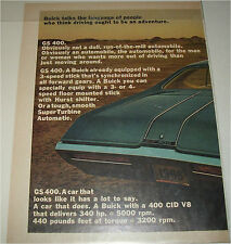 1968 Buick GS 400 2 dr ht car ad