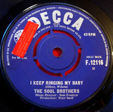 """Soul Brothers I Keep Ringing My Baby 7""""UK ORIG '65 Soul/Mod Decca Can't Take It"""