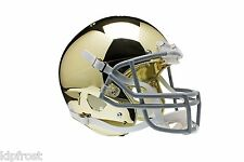 NEW NOTRE DAME IRISH SPECIAL GOLD CHROME SCHUTT FULL SIZE REPLICA HELMET