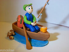Fishing Fisherman and Boat Edible sugar paste decoration cake topper birthday