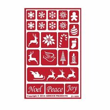 Armour Reusable Over n Over Glass Etching Stencil ONO Holiday Baubles Christmas