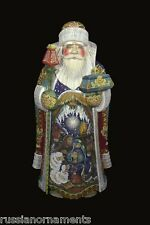 Magnificient Russian Santa Hand Carved & Painted NATIVITY SCENE