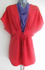 red kaftan jacket beach  cover up