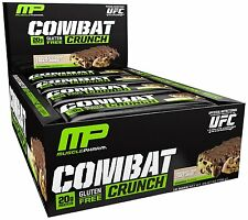 Muscle Pharm Combat Crunch Protein Bars Chocolate Chip Cookie Dough  (12 Bars)