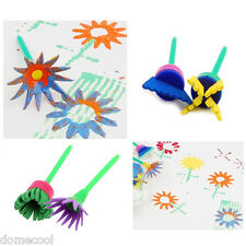 4X Flower Stamp Sponge Brush Tool Set Art Supplies Kids Painting NEW GIFT best