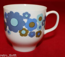 Vintage Melitta Germany Porcelain White Coffee Mug Cup Colorful Flowers Retro