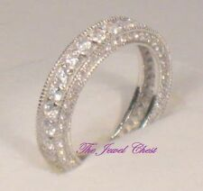 2 Ct Round D/VVS1 Diamond Wedding Band Antique Eternity Design Pave setting
