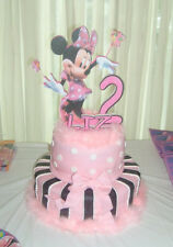 Minnie mouse  Birthday Party Cake topper  pk w #