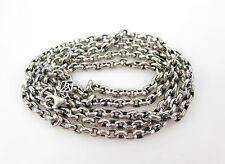 WAXING POETIC LONG 36 INCH LARGE LINK ROLO CHAIN NECKLACE .925 Sterling Silver