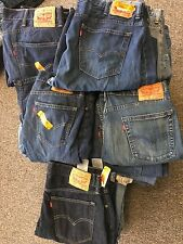 50 LEVIS WHOLESALE DENIM BLUE JEANS LOT DAMAGED