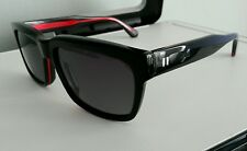 NEW!! HUGO BY HUGO BOSS 0129 SUNGLASSES BLACK RED 55MM MADE IN ITALY- RED LABEL