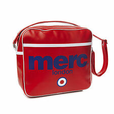 Para Hombre Merc London Target Messenger Fashion Airline Bag-Rojo